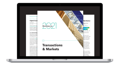 Transactions & Markets report on laptop screen
