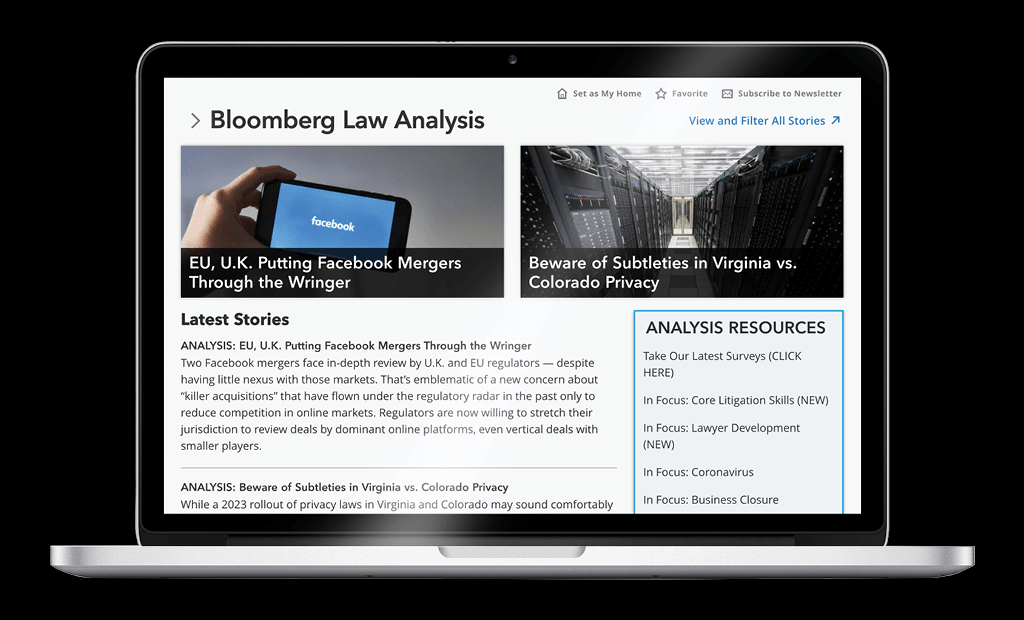 Bloomberg Law Analysis