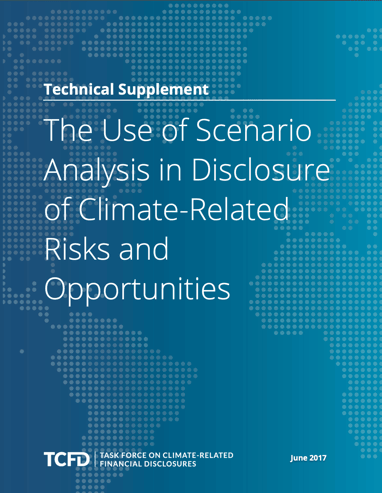 The use of scenario analysis in disclosure of climate-related risks and opportunities
