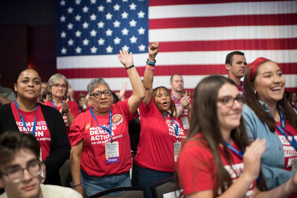 Attendees at the Presidential Gun Sense Forum in Iowa