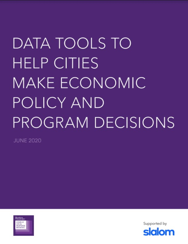 Data tools to help cities make economic policy and program decisions