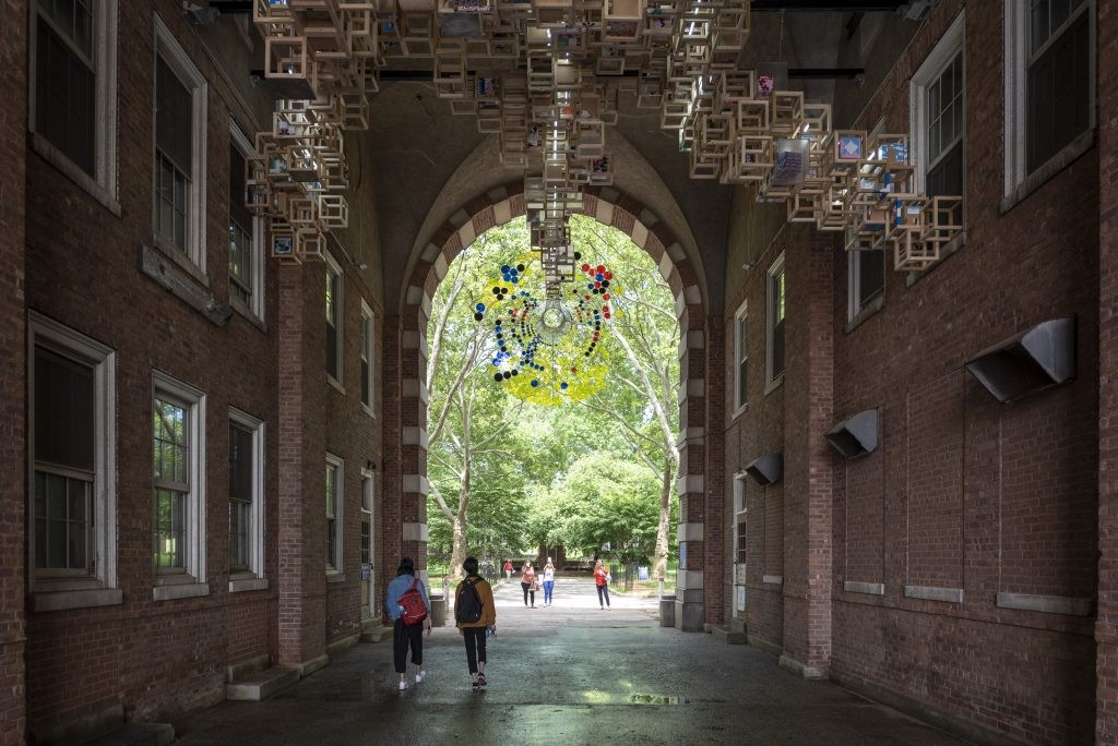Never Comes Tomorrow in the Liggett Archway. Photo Credit Timothy Schenck
