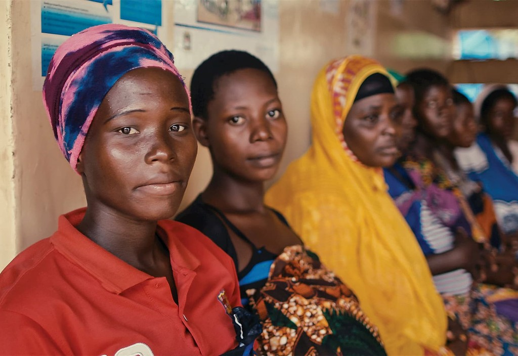 """Women in a Bloomberg Philanthropies supported health center's maternity ward in Tanzania. """