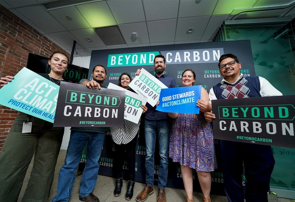Grassroots volunteers and advocates at a Beyond Carbon event in Denver, Colorado.