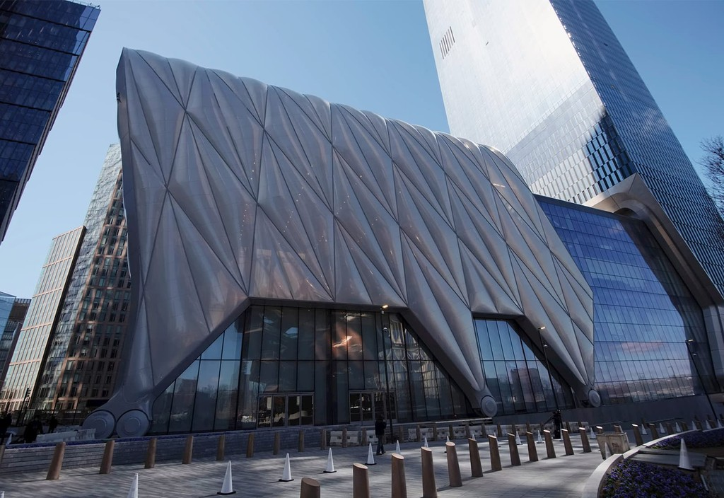 A dedication ceremony and ribbon cutting at Hudson Yards' The Shed, ahead of the art center's opening.