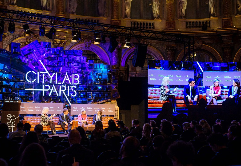 Panelists speak during CityLab, an annual conference on urban innovation in partnership with Bloomberg Philanthropies, the Aspen Institute, and The Atlantic.