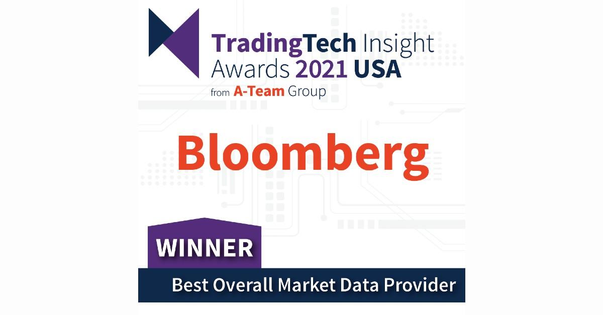 Bloomberg ganha prêmio TradingTech de Melhor Provedor de Dados